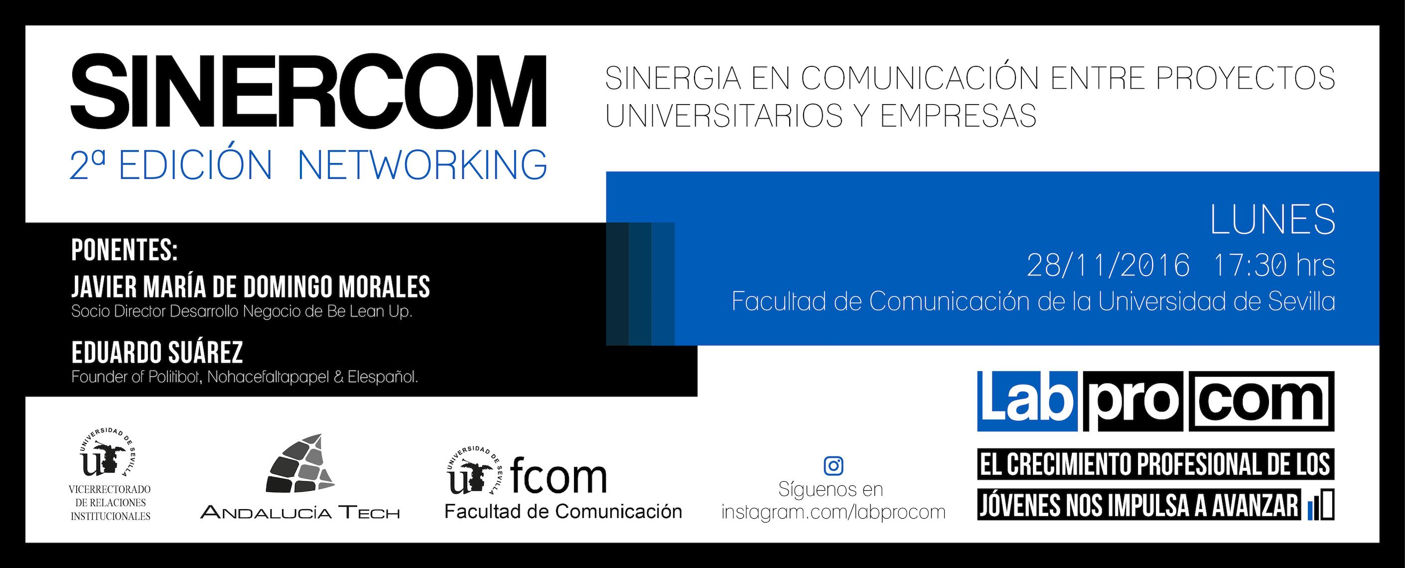 Sinercom, 2ª edición. Networking de sinergia en comunicación entre proyectos universitarios y empresas