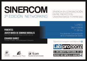 Sinercom, 2ª edición networking sinergia en comunicación entre proyectos universitarios y empresas